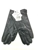 Perrin Collection Womens Genuine Leather Gloves Warm Fleece Interior Black SizeM