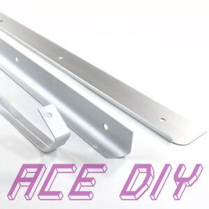 Kitchen Worktop Edging Trims | Silver Matt Corner End or Straight Strip Joint