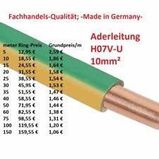 H07V-U 10 mm² Aderleitung Erdungskabel Erdungsleitung Erdung starr grün / gelb