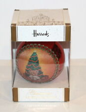 HARRODS CHRISTMAS LIMITED EDITION TEDDY BEAR & CHRISTMAS TREE ORNAMENT NIB