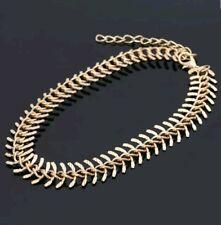 Gold Fish Bone Anklet Foot Chain Ankle Bracelet