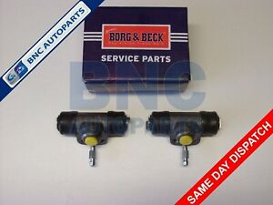 REAR BRAKE WHEEL CYLINDER PAIR for VW POLO MK 2  BORG & BECK