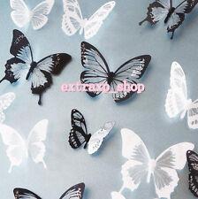 18pcs 3D PVC Butterflies DIY Butterfly Art Decal Home Decor Wall Mural Stickers