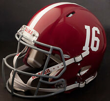 2015 NATIONAL CHAMPIONS ALABAMA CRIMSON TIDE Riddell SPEED Football Helmet #16