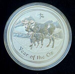 2009, Australia $8, 5 oz .999 Silver Coin.! Lunar Series Year of The Ox.!