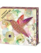 Floraculture Hummingbird Purse-Size Compact Mirror by Punch Studio w/Dual-Mirror