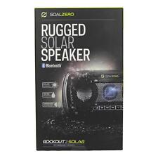 Goal Zero Rock Out 2 Waterproof Portable Bluetooth Speaker w/ Solar Panel Black