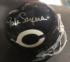 Gale Sayers signed helmet Chicago Bears Rid dell Full Size Mounted Autograph