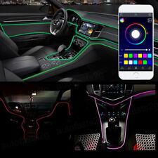 LED RGB Car Interior Neon Sound Active EL Strip Light Bluetooth Phone Control