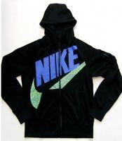 Nike Sportswear AW77 FZ Big Logo Hoodie Jacket Black Size XL 637234 010