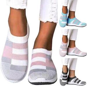Damen Sockenschuhe Turnschuhe Laufschuhe Sneaker Flach Freizeitschuh Sportschuhe