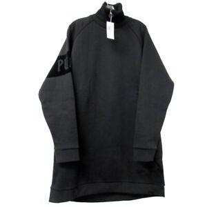 Fenty Puma By Rihanna Women OVERSIZED Neck Zip Pullover Sweater, Cotton Black, M
