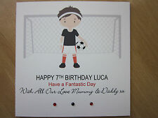Personalised Handmade Boys Football Birthday Card - 6th 7th 8th 9th Any Age