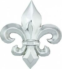 Big SILVER finish FLEUR DE LIS metal Belt Buckle 317