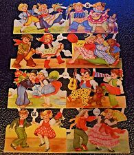 EAS 3141 Vintage Scrap Paper-Children Costumes Dance DieCut Glanzbilder Oblaten