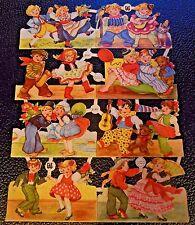 EAS 3141 Vintage Scrap Paper-Children Costumes Dance DieCut Glanzbilder Oblaten