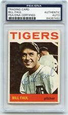 BILL FAUL Signed 1964 Topps #236 Tigers  PSA/DNA Encapsulated