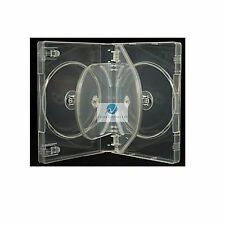 1 x 4 Way Clear DVD 27mm Spine Holds 4 Discs Empty New Replacement Case HQ AAA