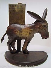 Antique Tin Donkey Cigarette Dispenser figural animal cig holder ears tail move