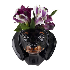 Quail Ceramics - Dachsund Wall Vase