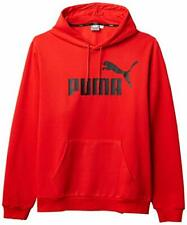 PUMA Men's Big & Tall Essentials Big Logo Full Zip Hoodie (Red, XLT)