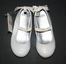 New Gymboree Fair Isle Sparkle Line White Ballet Flats Shoes Girls 8 Toddler NWT