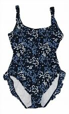 Michael Kors Floral Print Pleated Hem One-piece Swimsuit Size 14 New With Tags