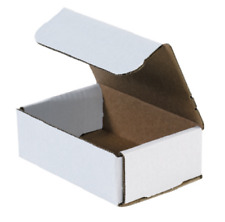 "1-200 Choose Quantity 6x4x2 Corrugated White Mailers Packing Boxes 6"" x 4"" x 2"""