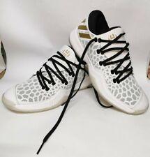 AC7821 Adidas endurece Entrenadores Calzado De Baloncesto Blanco Dorado Negro UK 9.5 nos 10