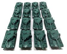 16 Piece Green Army Battle Tanks Play Set
