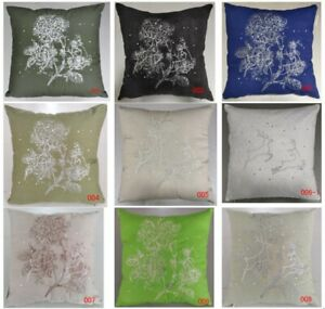 Pack of 4PCS Shining Deers & Embroidery Flowers Cushion Covers 45*45cm