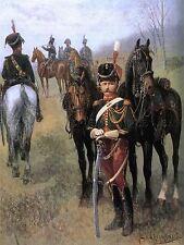 Pintura Militar Chelminski polaco Prince Poniatowski Guía de Impresión Cartel lf656