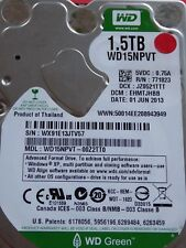 Western Digital WD 15 NPVT - 00z2tt0 | DCM: ehmtjhbb | 01 Jun 2013 | 1,5 To