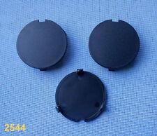 (2544) 3x rund Kappe für Motorabdeckung Motorhaube Kofferraum CLIPS schwarz 38mm