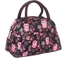 Fashion small handbag night owl nylon waterproof clutch purse lunch bags