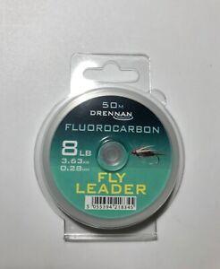 Drennan Fluorocarbon  Leader / Tippet , 8 lb , 50 Meters