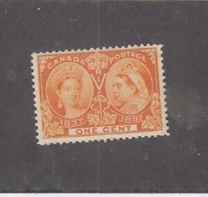 CANADA (MK7362) # 51 VF-MH 1cts 1897 QV DIAMOND JUBILEE /ORANGE CAT VALUE $40