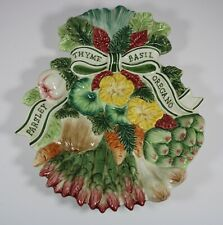 Vintage Fitz and Floyd Herb Garden Appetizer Plate