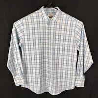 Peter Millar Summer Comfort Plaid Stretch Mens Dress Casual Shirt Fit Sixe XL