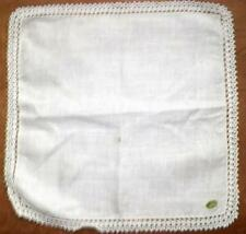 Vintage Hankie Handkerchief White Irish Linen Crocheted Lace Bridal Wedding