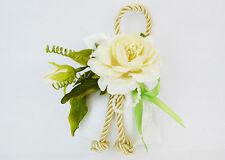 Bomboniera Sacchetto Bianco Ricamato Pick Fiore E Foglie Wedding anniversari