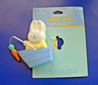 Hallmark PIN Easter Vintage WIND UP BUNNY Rabbit Fishing ACTION Boat Carrot NEW*