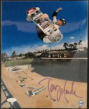 Tony Hawk Signed Skateboard Half Pipe 8x10 Photo Autographed Steiner COA