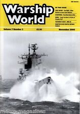 WARSHIP WORLD MAGAZINE NOVEMBER 2000 MGB 60 SEA RAM KURSK KINGSTON DEFENCE