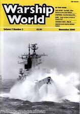 WARSHIP WORLD MAGAZINE NOVEMBER 2000 MGB 60 SEA RAM KURSK KINGSTON DEFENCE