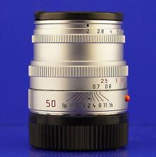 LEICA Summicron M 2/50 Chrom/Silber #3829272 TOMS-CAMERA-LADEN ANKAUF/VERKAUF