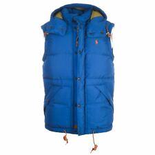 Polo Ralph Lauren Chaleco Azul Con Capucha Talla Pequeña Rrp £ 299 TR 549