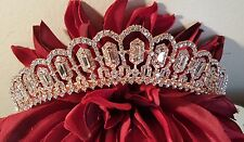 Bridal Rose Gold Plated Tiara / Sweet 16 Tiara / Wedding tiara