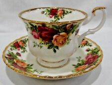 Royal Albert Old Country Roses Footed Cup & Saucer Set England 1962