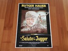 "ORIGINAL MOVIE POSTER ""BLOOD OF HEROES"" 1990 DUTCH FOLDED ONE SHEET RUTGER HAUER"